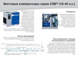 Винтовые компрессоры серии CSB Ceccato